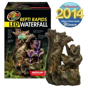 Repti Rapids LED Waterfall Wood style M