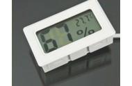 Termo-/hygrometer med føler Hvid