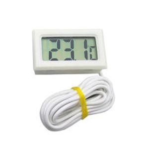 Termometer m/føler hvid